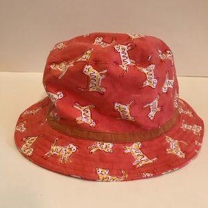 ROBERTA ROLLER RABBIT Sun Hat w/ Cat Print